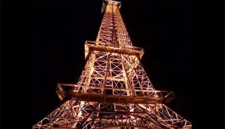 छोराको माेबाइलमा वाइफाइ नटिपेकाेले बुबाले छानामा एफिल टावर खडा गरे, मानिसहरू परे छक्क