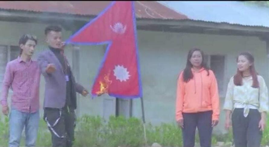 राष्ट्रिय झण्डा जलाउने गायकलाई जेल पठाउन आदेश