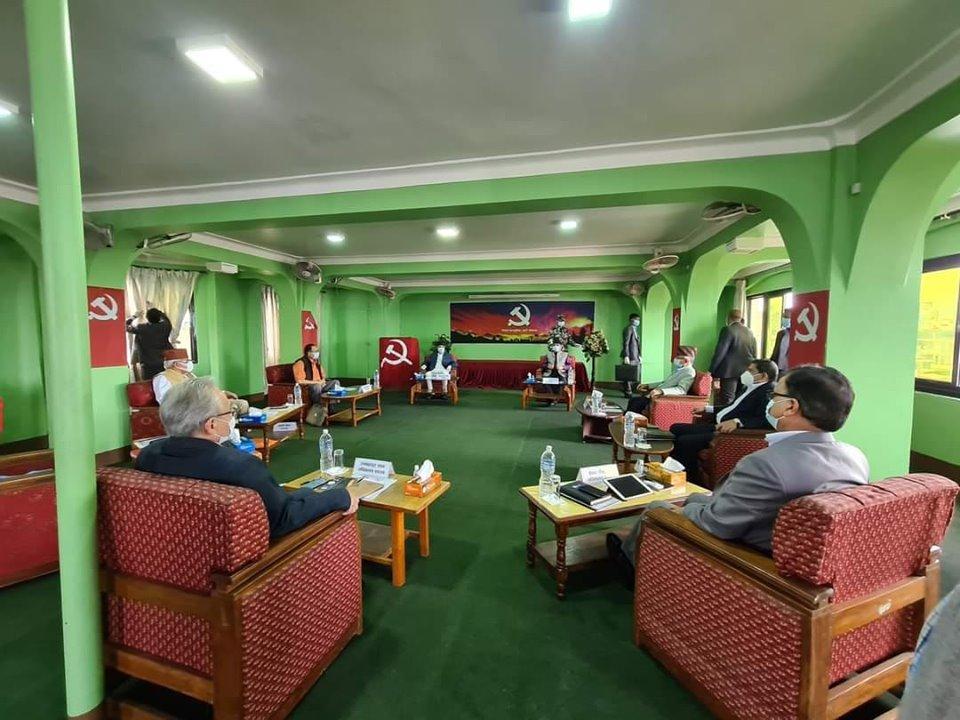 पेरिसडाँडामा नेकपा सचिवालय बैठक सुरु