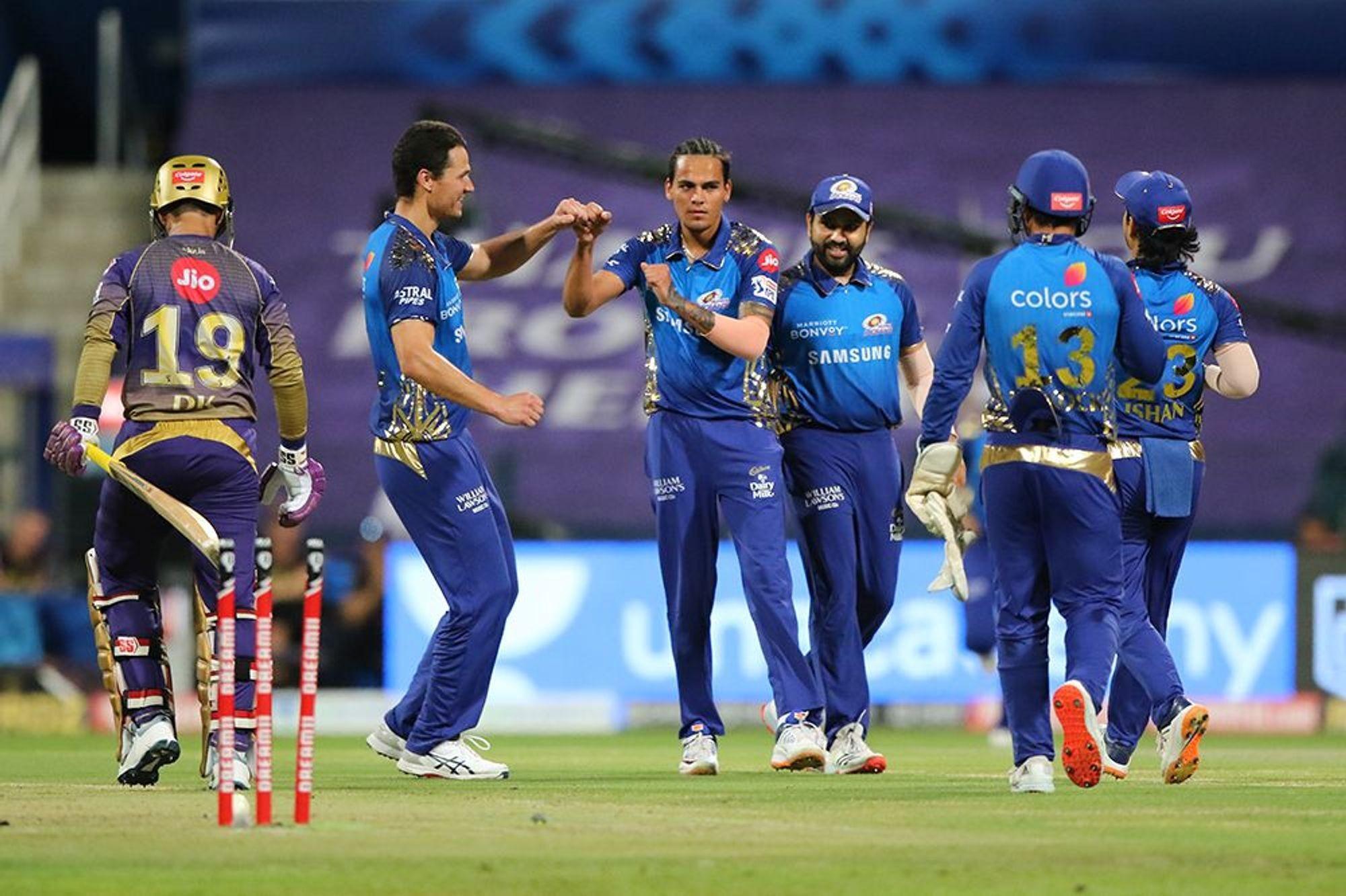 कोलकत्ता नाइट राइडर्सलाई हराउँदै मुम्बई इन्डियन्स शीर्ष स्थानमा