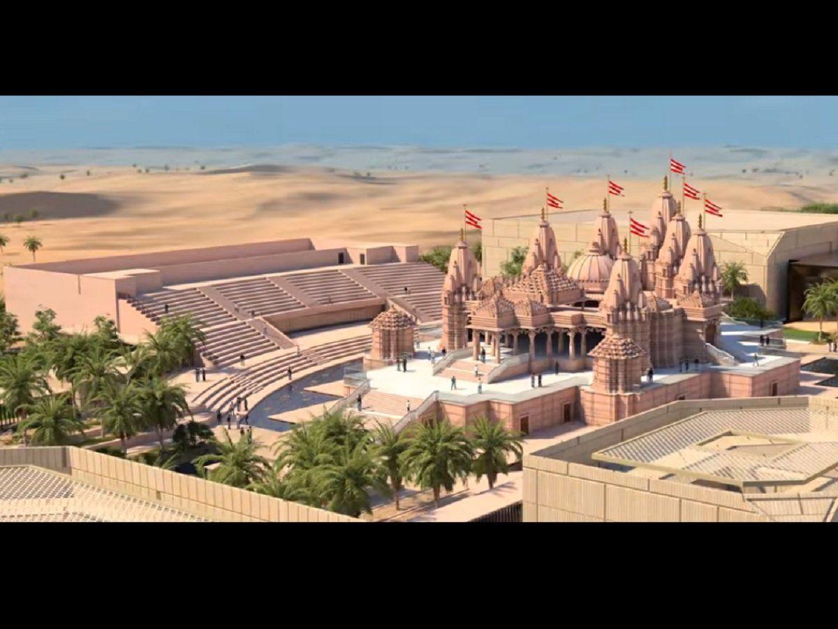 अबु धाबीमा स्थापना हुने हिन्दु मन्दिर निर्माण प्रगति बारे शेख अब्दुल्लाले चासो राखे