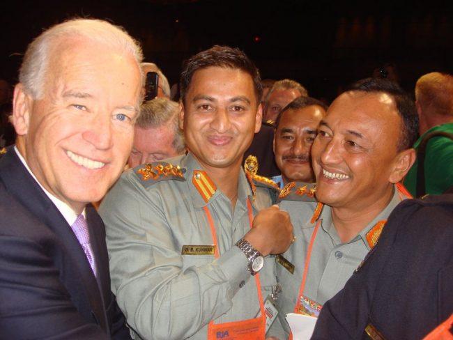 सशस्त्र प्रहरीका डिआईजीलाई किन भेटे अमेरिकी राष्ट्रपति जो वाइडेनले ?