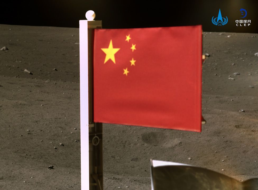 China becomes second country to put national flag on Moon. (vedio)