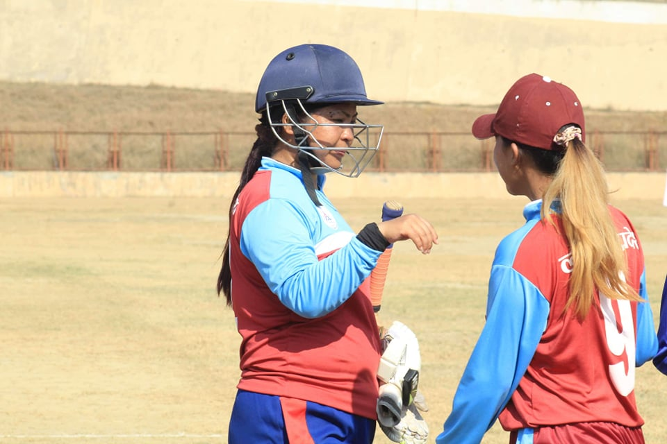 महिला क्रिकेट पीएम कप : पहिलो खेलमा लुम्बिनीको विजयी सुरुआत