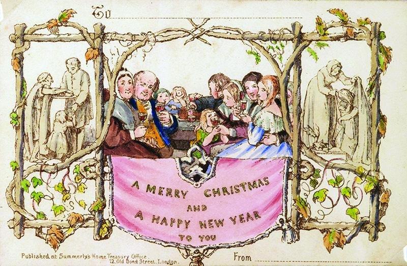 विश्वको पहिलो व्यावसायिक रूपमा प्रिन्ट गरिएको क्रिसमस कार्ड बिक्रिमाः मूल्य २५,००० डलर