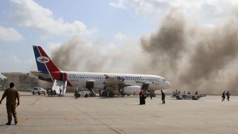 यमन आक्रमण: प्रधानमन्त्री र मन्त्रिपरिषद् सदस्यहरूलाई लक्ष्य गरी भएको विस्फोटनमा कम्तीमा २२ जनाको मृत्यु