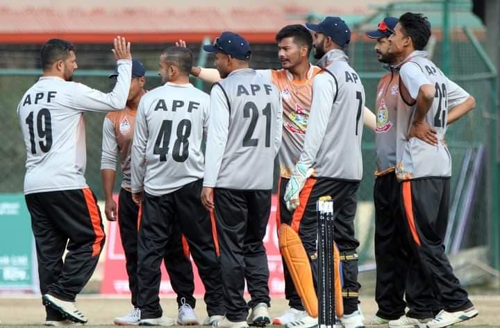 पीएम कप क्रिकेट प्रतियोगितामा एपीएफको विजयी सुरुवात
