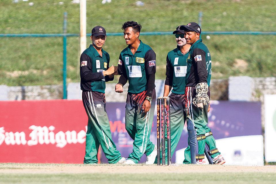 पीएम कप: वाग्मती प्रदेशले लुम्बिनीलाई जितका लागि २२१ रनको लक्ष्य
