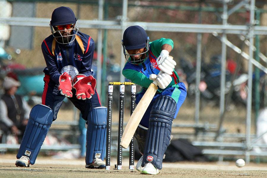 प्रधानमन्त्री कप क्रिकेटमा सुदूरपश्चिम ११० रनमा अलआउट, सागर र दीपेन्द्रले लिए ४-४ विकेट
