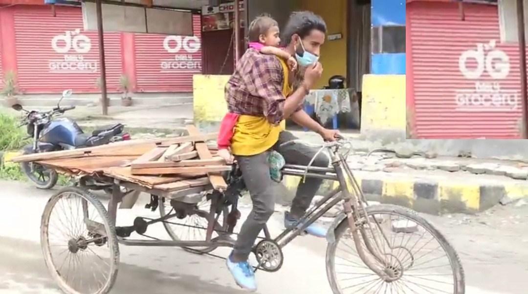 बच्चा बोकेर रिक्सा चलाएको तस्वीरले भाइरल बनेका अर्जुन धरौटीमा छुटे