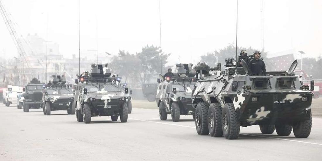 आज सोमबार राति नेपाली सेनाको बख्तरबन्द गाडीहरुले चक्रपथ परिक्रमा गर्ने
