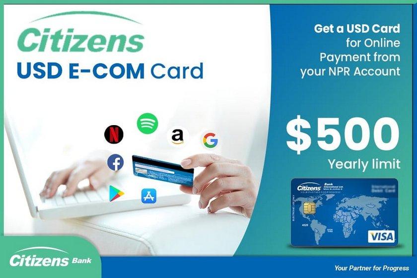 सिटिजन्स बैंकद्वारा डलर कार्डको सुरुवात