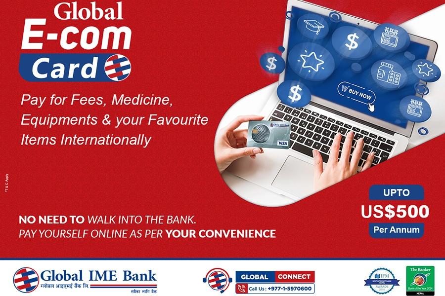 ग्लोबल आइएमई बैङ्कले ल्यायो 'ग्लोबल ईकम डलर कार्ड'