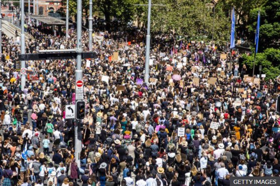 यौन दुर्व्यवहार विरुद्ध अस्ट्रेलियामा प्रदर्शन
