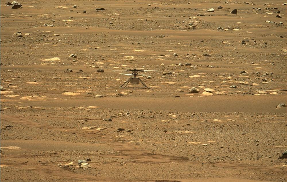 मंगल ग्रहमा पहिलो पटक उड्यो सानो हेलिकप्टरः उडान सफल