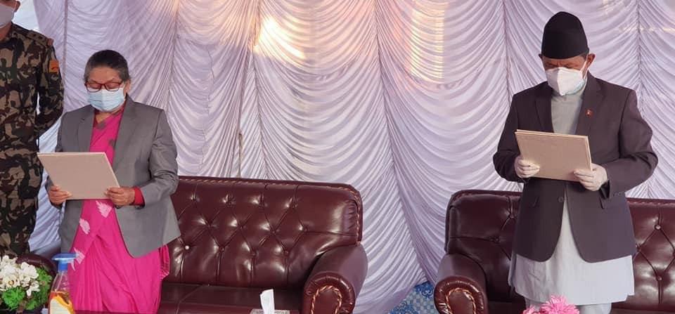 गण्डकीको मुख्यमन्त्रीमा पुनः गुरुङ्ग नियुक्त, सपथ ग्रहण सम्पन्न