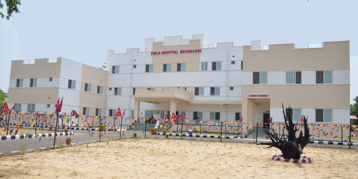 धनगढीमा सैनिक फिल्ड अस्पताल सञ्चालन