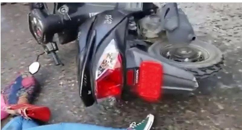 कैलाली गेटामा स्कुटी दुर्घटना, एक जना गम्भीर घाईते