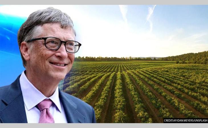 बिल गेट्स अमेरिकाका सबैभन्दा ठूला किसान, अन्तरिक्षबाट समेत देखिन्छ उनको खेत