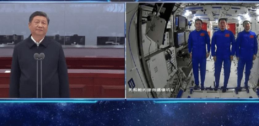 अन्तरिक्ष यात्रीसँग चिनियाँ राष्ट्रपति सीको कुराकानी, के-के भने ? (हेर्नुहोस् भिडियो)