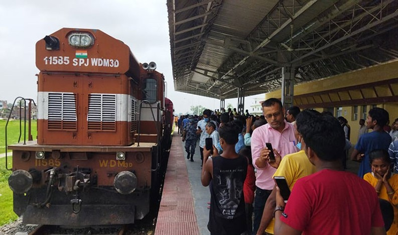 जनकपुर-जयनगर रेल्वे ट्रयाकको परीक्षण सफल