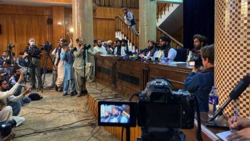 सत्ता कब्जापछि तालिबानको पहिलो पत्रकार सम्मेलन; सरकार गठन गर्ने तयारी