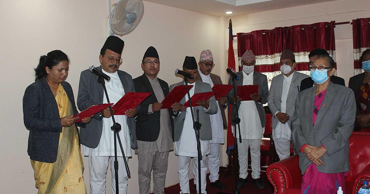 वाग्मती सरकार विस्तार, थप ६ मन्त्री र चार राज्यमन्त्री नियुक्त