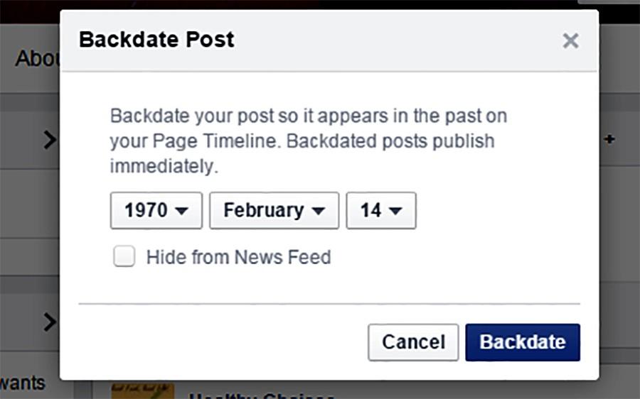 फेसबुकमा ब्याक डेटमा पोस्ट गर्ने, स्टाटसको मिति कसरी परिवर्तन गर्ने ?